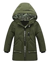 Aivtalk Boys Winter Warm Coats Stylish Hooded Jacket Windproof Thick Outerwear