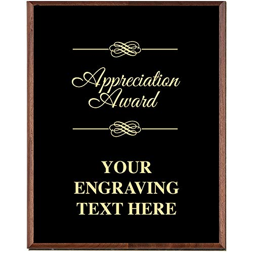 Crown Awards Corporate Appreciation Plaques - 5 x 7 Appreciation Award Gold Etched Recognition Trophy Plaque Award Prime