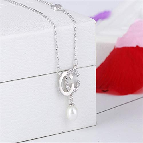 2019 Fashion Necklace For Women Rose And silver Pendant Necklace