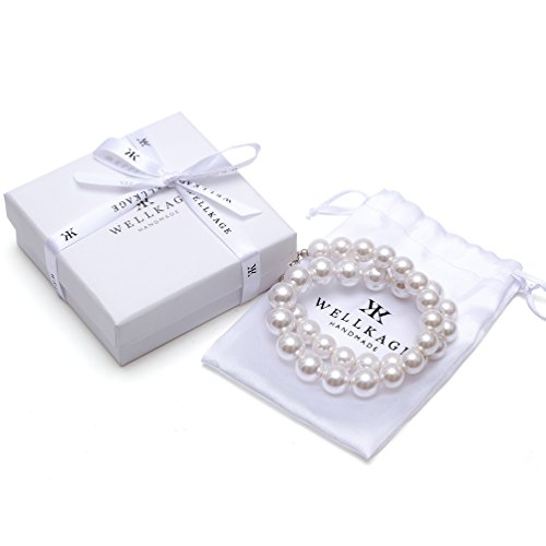 WELLKAGE Pearl Necklace Ecofriendly Costume product image