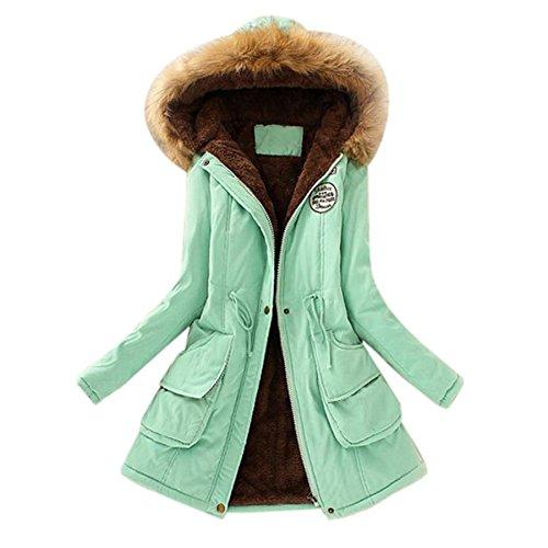Zolimx Zolimx Zolimx Donna Tumblr Lungo Donna Eleganti Cappotti Elegante Verde green Donna Giacca Elegante Parka Maglione Lunghi da Cardigan Invernale Invernale Donna Cappotto Invernale PqwrXSq