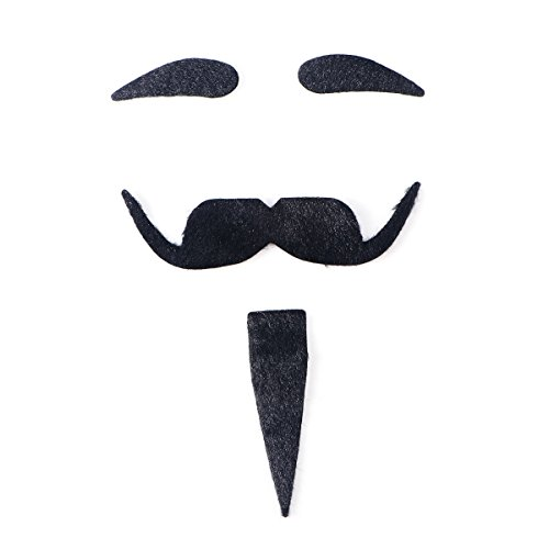 Halloween Costumes With Beards 2019 (TINKSKY Halloween Costumes Self Adhesive Fake Eyebrows Beard Moustache Facial Hair Cosplay)