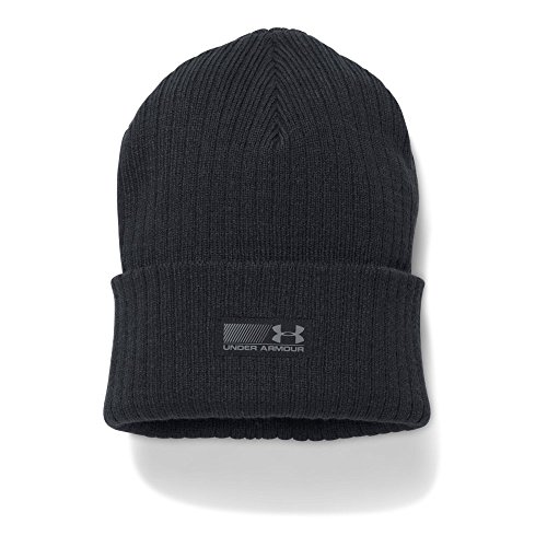 Under Armour Men's Truck Stop Beanie, Black/Black, One Size