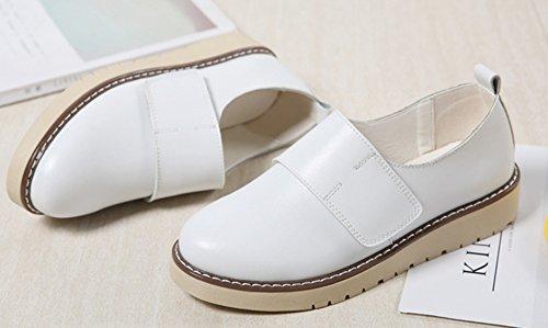 Mocassins Blanc Oxfords Couleur Plates Classique Aisun Unie Femme 41HBqf