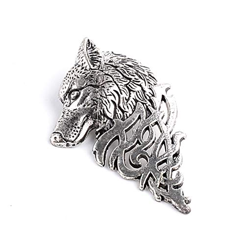 nality Hollowed Out Wolf Brooch Men's Suit Collar Pin Buckle Charms - Fashion Retro Business Men's Suit Brooch Pin Gifts for Holiday Souvenir Christmas New Year ()