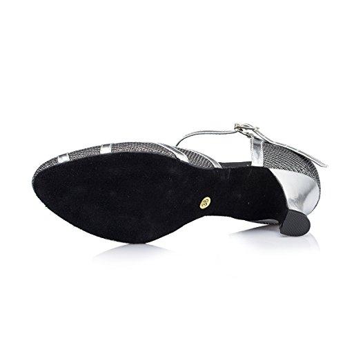 Toe Salsa Miyoopark Close Latin Dancing Wedding Black Heel Glitter 5cm Shoes T Women's Strap Sparkle Pumps YR1HI