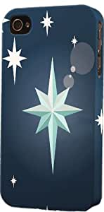 Blue Star Pattern Dimensional Case Fits Apple iPhone 6