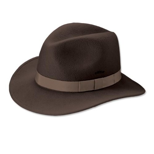 Orvis Packable Felt Hat, Brown, Small