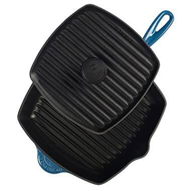 Le Creuset Enameled Cast-Iron Panini Press Skillet Grill Set, Marseille