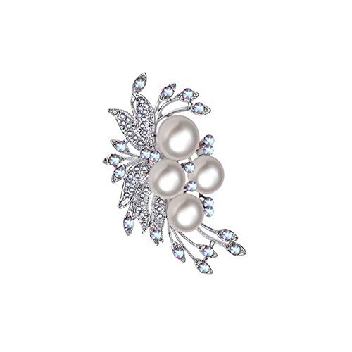 Haodou Rhinestone Perla de imitación Flor diseño Broche Nupcial Broche de la Torta del Zapato de la decoración del Zapato para Damas de Las Mujeres