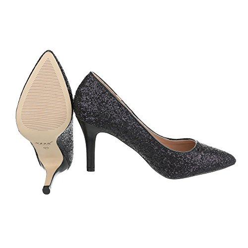 Ital-Design - Zapatillas de casa Mujer Schwarz 1126-P