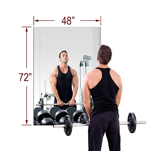 "TroySys 48""x72"" MiraSafe Single Gym Mirror Kit"