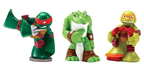 Teenage Mutant Ninja Turtles Pre-Cool Half Shell Heroes Michelangelo, Leatherhead and Raphael Bathtub Squirter Figure (Pack of 3) by Nickelodeon (Image #1)