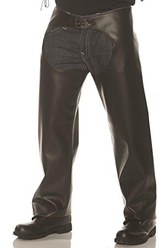 Underwraps Men's Biker Chaps Costume, Black, One Size