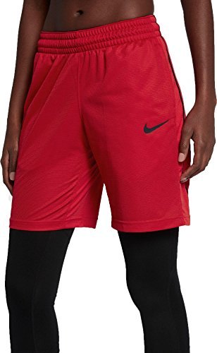 NIKE Women's 10'' Dry Essential Basketball Shorts (University Red, X-Large)