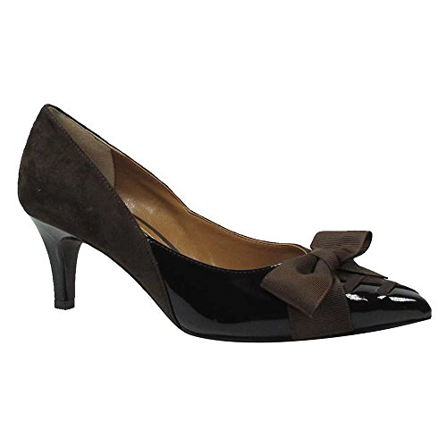 chocolate brown pumps - 9