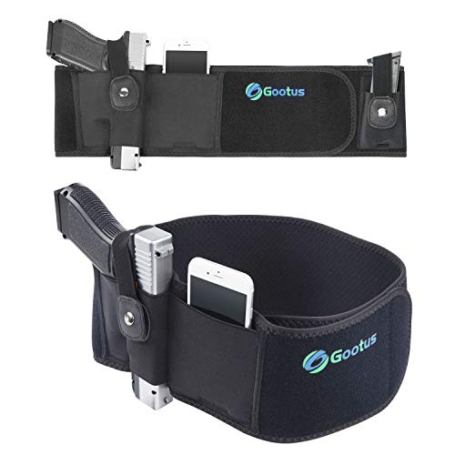 Belly Band Holster for Concealed Carry - Breathable Neoprene Waist Holster for Men and Women - Fits Glock, Ruger LCP, M&P Shield, Sig Sauer, Ruger, Kahr, Beretta, 1911, etc (Right)