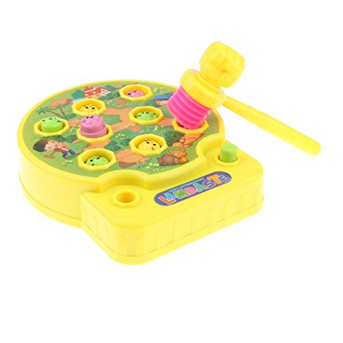Perfk キッズ ボードゲーム モグラたたきゲーム  キッズおもちゃ ファミリーゲーム 3色選べる - #2の商品画像