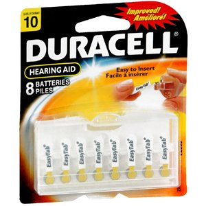 PACK OF 3 EACH DURACELL HEAR AID DA10B8N EZ 8EA PT#4133363187 by Marble Medical (Image #1)
