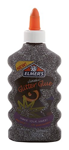 Elmer's Liquid Glitter Glue, Washable, Black, 6 Ounces, 1 Count