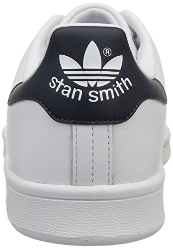 Zapatillas de White Running New Smith Navy Deporte Originals adidas Unisex Adulto Blanco Stan tIpxFF