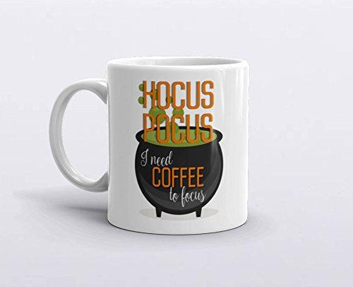 Disney Hocus Pocus Costumes (Halloween Mug, Hocus Pocus Mug, I need coffee to focus, Halloween gift, Funny Coffee Mugs, Hocus Pocus Halloween, 11oz, 15oz, gift)