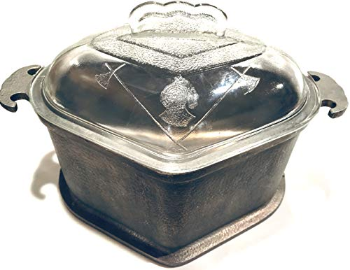 Vintage Guardian Services Hammered Aluminum Triangle Roaster Casserole Pot With Glass Lid ()