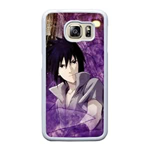 Grouden R Create and Design Phone Case,Sasuke Uchiha Cell Phone Case for Samsung Galaxy S6 Edge White + 1*Touch Stylus Pen (Free) GHL-2868984