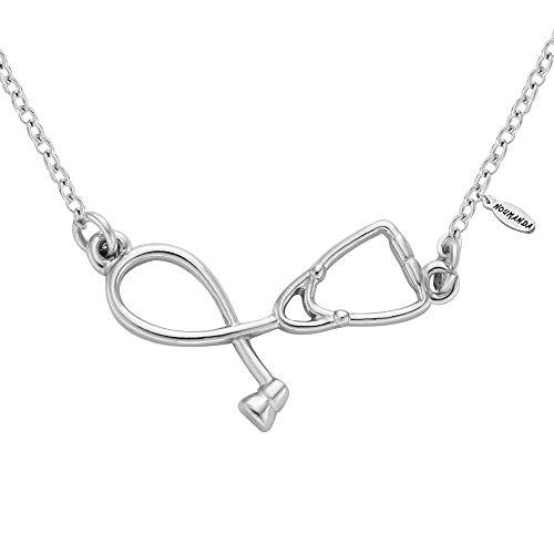NOUMANDA Medicine Stethoscope Golden Necklace product image