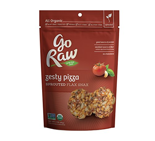 (Go Raw  Flax Snax Zesty Pizza, Pack of 1)