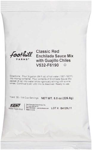 Foothill Farms Classic Red Enchilada Sauce Mix with Guajillo Chiles, 8 Ounce - 8 per case. by Foothill Farms