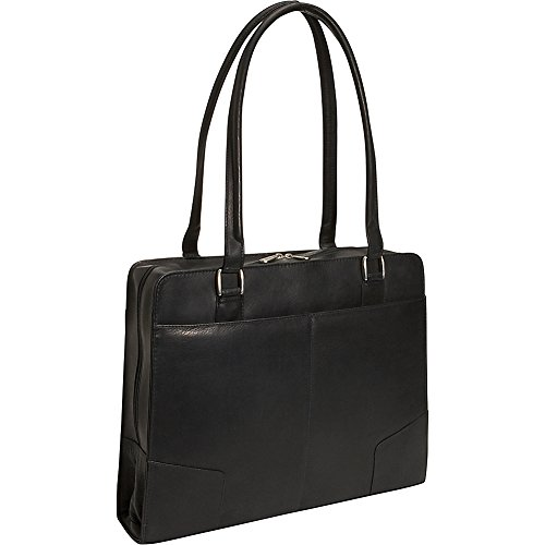 Piel Leather Hardside Shoulder Tote, Black, One Size