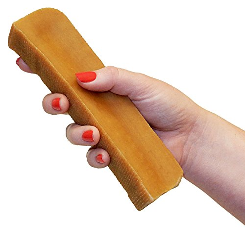 MONSTER Yak Dog Chew (7 to 8 oz.) Natural Himalayan Yak & Cow Milk / Cheese Long-Lasting, Jumbo Treat for Dogs, Best XL Thick Chew Stick by Pawstruck (7-8 Oz. Stick)