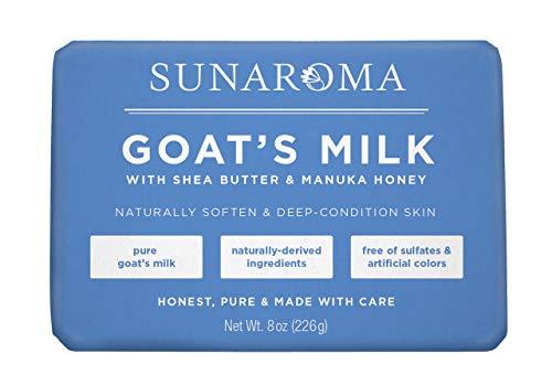 SUNAROMA Goat's Milk Soap, 6 Count ()