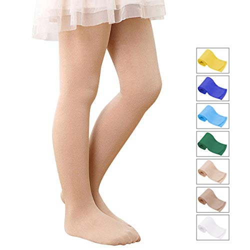 Zando Soft Ballet Dance Footed Tights Stretchy Casual Leggings School Uniform Tights For Toddler/Girls/Children