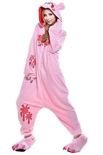 The ShielD? Christmas Costumes Animal Onesie Sleepsuit Pajamas Cosplay Pink Gloomy BearL (Costume Rental Orlando)