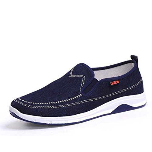 stile Resistente 39 basse UOMOGO 44 da stringate amante Scarpe denim in all'abrasione piatte scarpe sportive unisex Blu uomo ARxFHAY