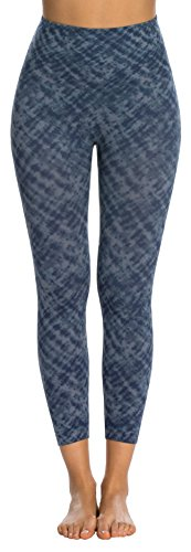 3e238739c416a SPANX Look at Me Now Medium Control Cropped Leggings, L, Indigo Watercolor