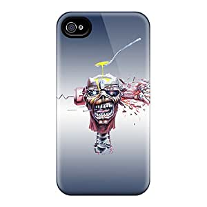 Shock Absorption Hard Phone Cases For Iphone 4/4s (zMf16413gtUT) Unique Design Beautiful Iron Maiden Madness Pattern