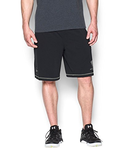 Under Armour Men's WWP Raid Shorts, Black/Storm, X-Large