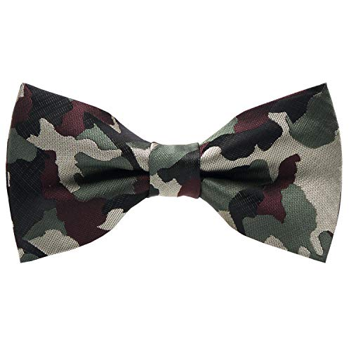 Mumusung Men's Camouflage Woodland Butterfly Bow Tie -