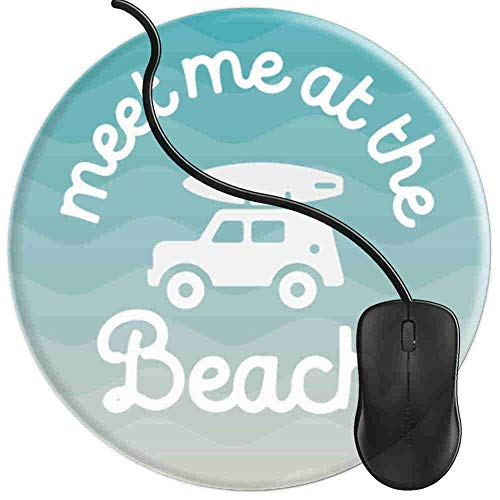 Mouse Pad for Computers,Gaming Mouse-Pads Office for Laptop Mouse Mat for PC Non Slip Mice Pad Meet Me at Beach Surfboard Ocean 2T42
