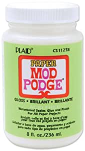 Mod Podge Waterbase Sealer, Glue and Finish (8-Ounce), CS11238 Paper, Gloss Finish