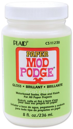 Mod Podge Waterbase Sealer, Glue and Finish for Paper (8-Ounce), CS11238 Gloss Finish (Mod Swing Coat)