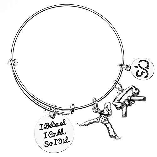 Sportybella Karate Charm Bracelet - Martial Arts Belt Charm Bracelet Idea