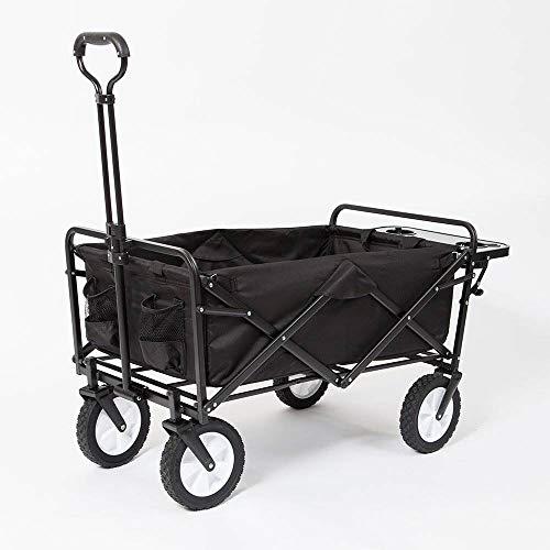 Mac Sports Collapsible Folding Outdoor Garden Utility Wagon Cart w/Table, Black (Mac Sports Collapsible Folding Outdoor Utility Wagon)