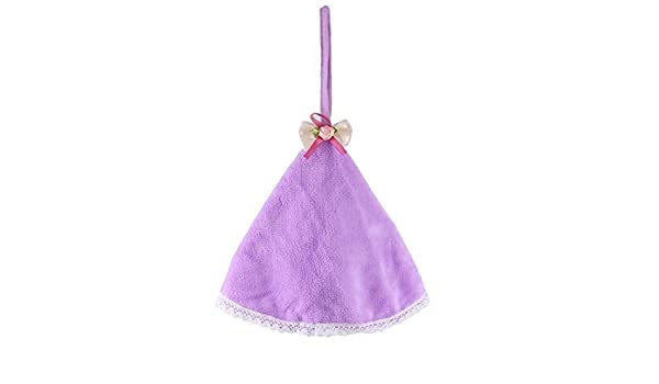 Amazon.com: eDealMax Polar de Coral Inicio Bowknot colgar de la pared de limpieza de secado toalla de Mano púrpura: Home & Kitchen