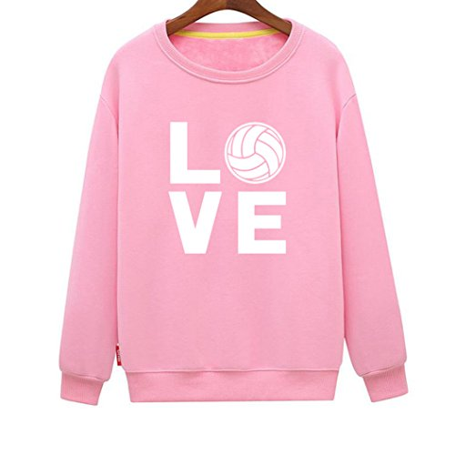Winters Eve Tapestry (CINFUN Women's Love Volleyball Funny Casual Loose Sweatshirt (Pink Small))