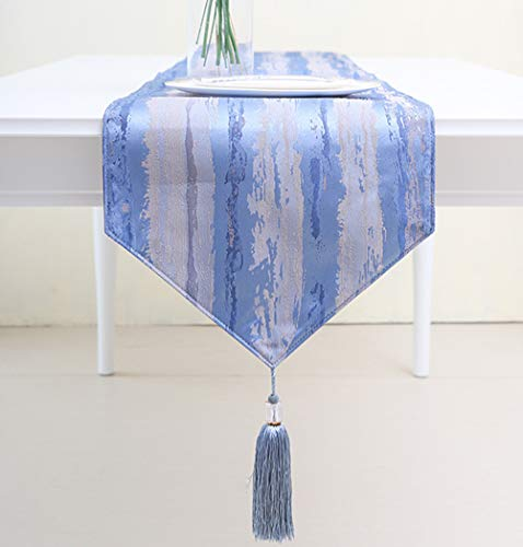 Yoovi Yarn-Dyed Jacquard Fabric Table Runner and Dresser Sca