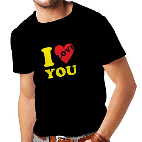 T Shirts For Men I Love You! - Sexy ST Valentines Gifts (Large Black - Shopping Beirut Online